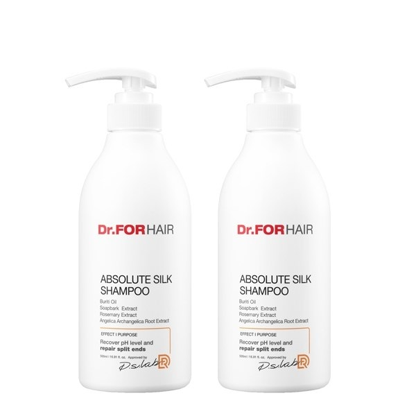 dr.forhair 앱솔루트 실크 샴푸 500mlx2, one color/free