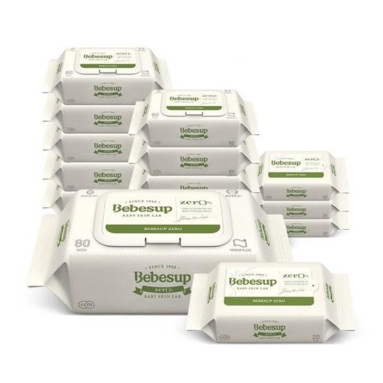 베베숲 아기물티슈 제로 캡 10팩 + 휴대 4팩, B08-제로 캡 10팩 + 휴대 4팩