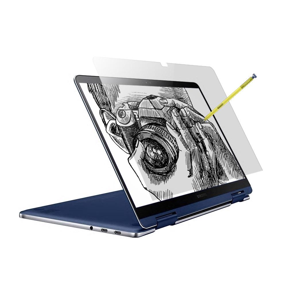 알럽스킨 삼성 노트북 펜 Pen S 15 종이질감 저반사 액정+외부 보호필름 2매 NT950SBE NT950SBV NT951SBE 노트북용, 1개