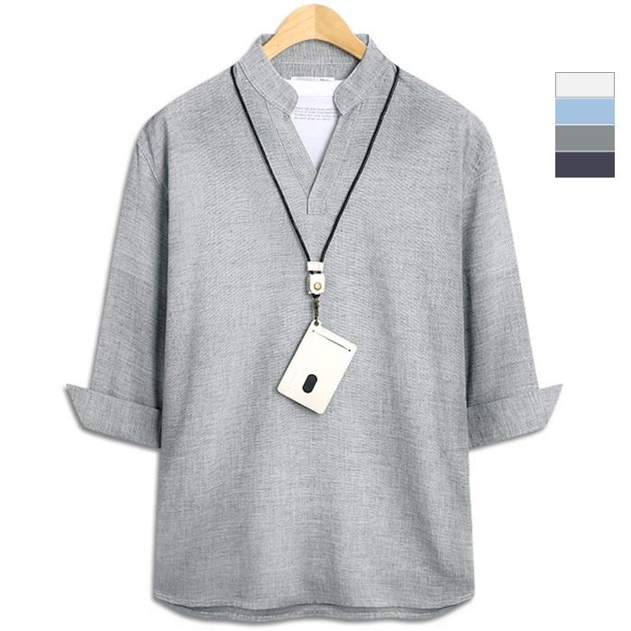 렌지 브이 트임 7부셔츠 (SCC3465PT), 소라