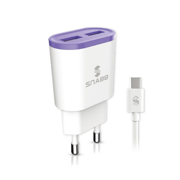 스냅 가정용 USB2포트 충전기 2.1A