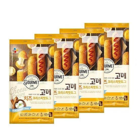 [CJ] 고메 치즈크리스피핫도그425g[5입] x 4봉[총20개], 없음, 상세설명 참조