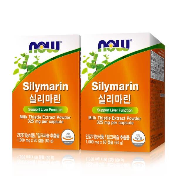 [현대백화점][나우푸드] 실리마린 (1000mg x 60캡슐) x 2박스, 단일속성, 없음