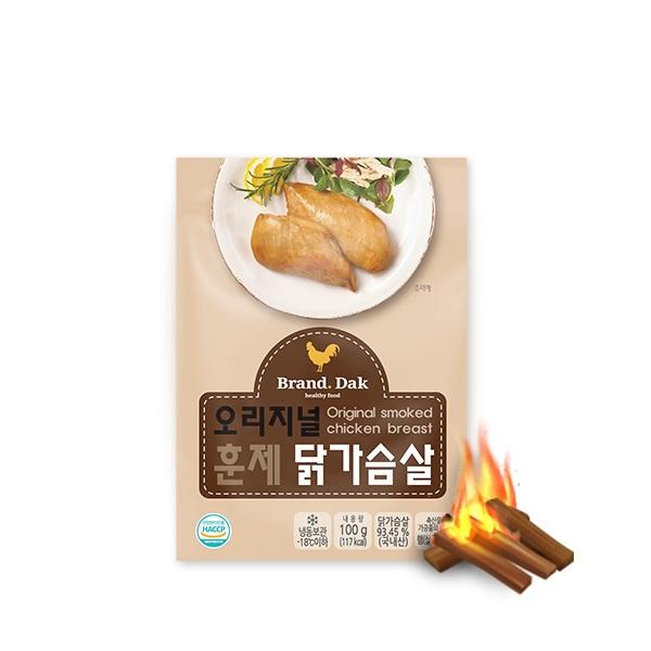 브랜드닭 훈제 닭가슴살 오리지널 100g 30팩
