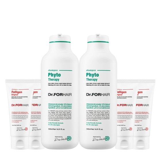 [닥터포헤어] 피토테라피 샴푸 500mlx2 + 폴리젠 샴푸 100ml, 없음, 상세설명 참조