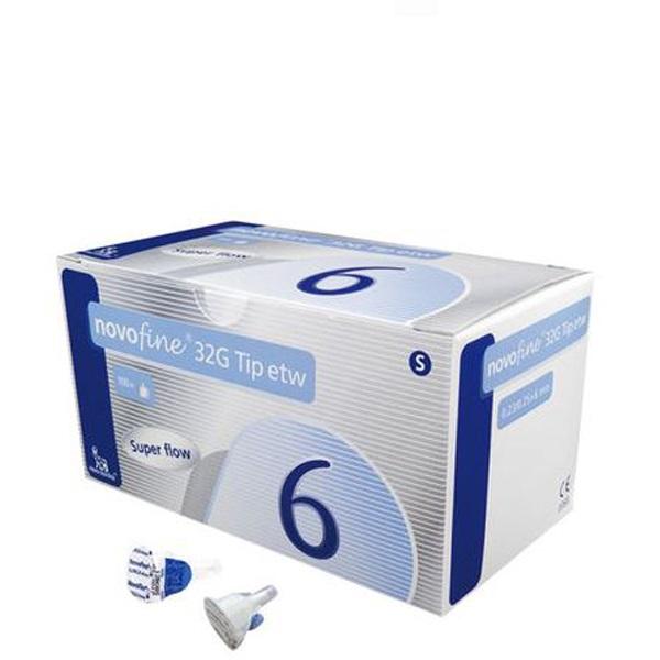 [정품인증]노보파인 32G TIP ETW 6mm 인슐린 펜니들, 100개입, 1박스