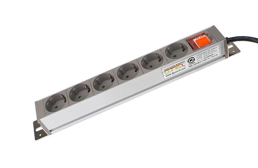 알루미늄 6구 멀티탭 스위치 안전카바 2.5m, 화이트