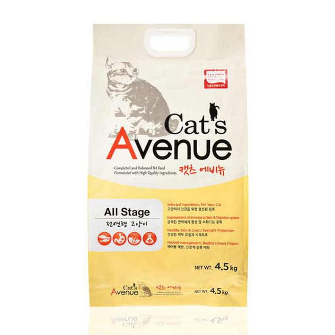 캣츠에비뉴 고양이 사료, 4.5kg, 1개