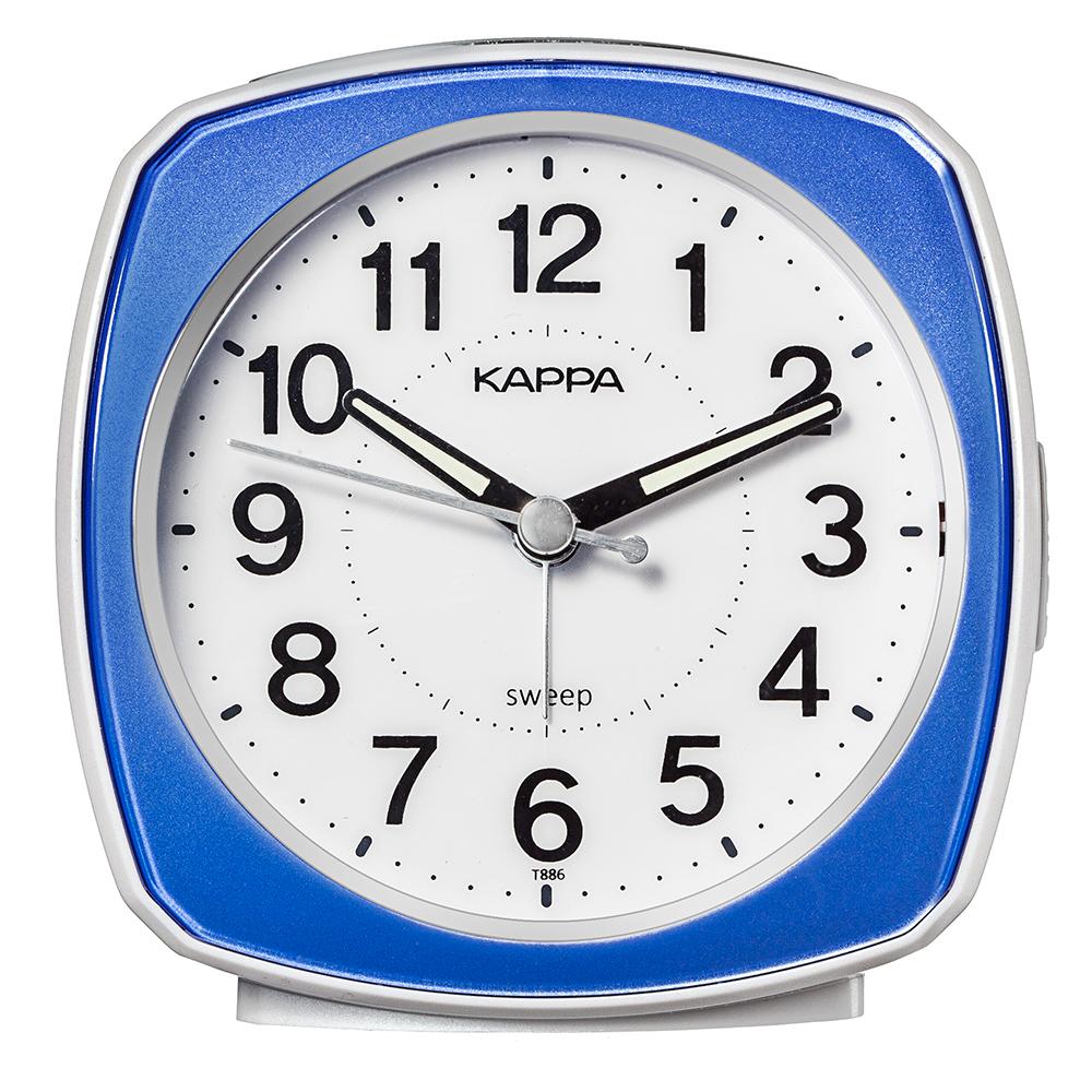 카파 저소음 삐삐알람 탁상시계 T886, 블루