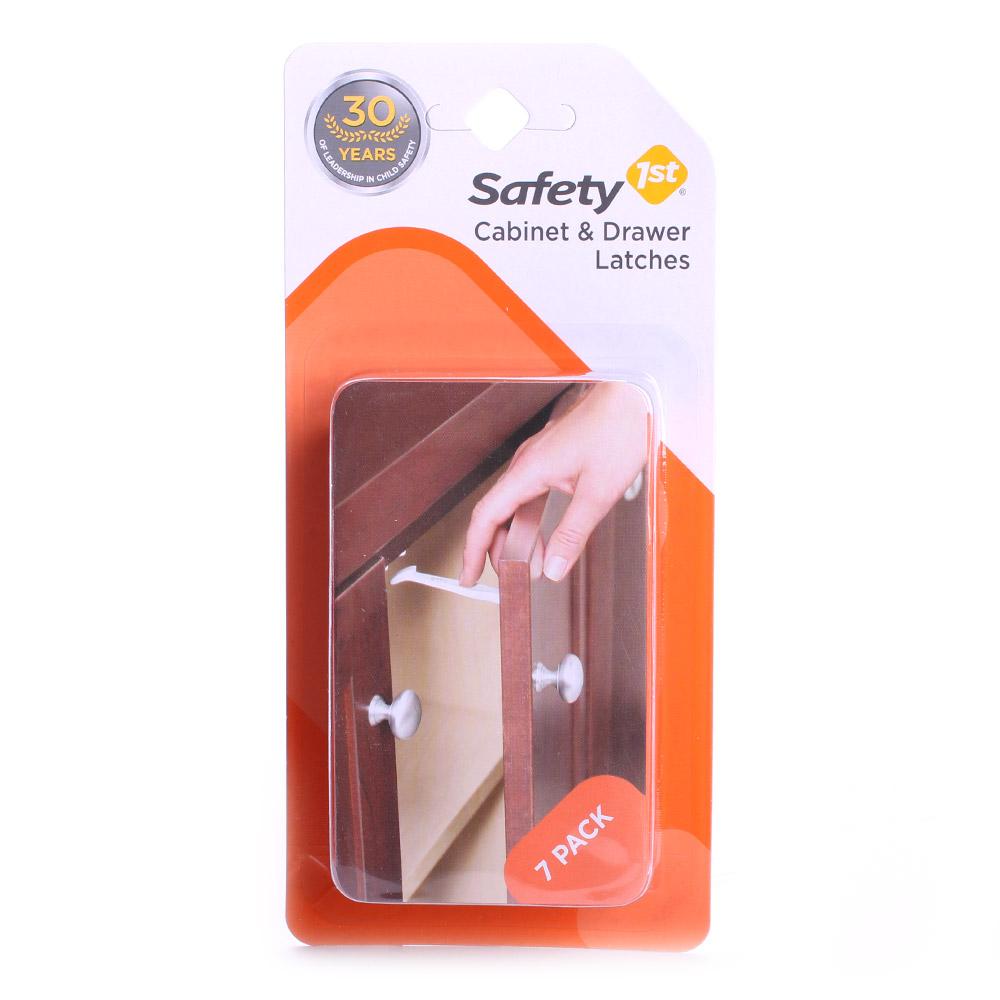 Safety 1St 세이프티 퍼스트 캐비닛 앤드 드로어 래치스, 7개입