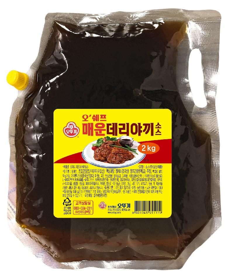 오뚜기 오쉐프 매운데리야끼 소스, 2kg, 1개