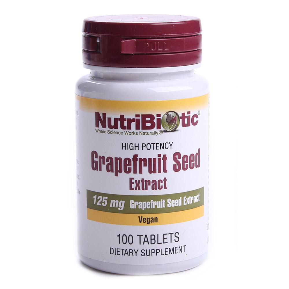 Nutribiotic 그레이프프루트 시드 추출물 125mg 타블렛, 100개입, 1개