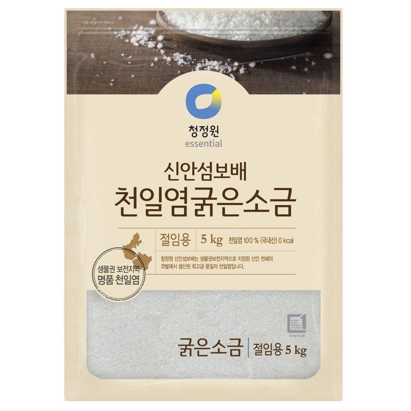 청정원 신안섬보배 천일염굵은소금, 5kg, 단일 수량
