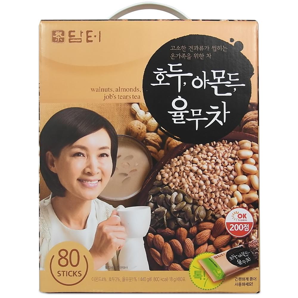 담터 호두 아몬드 율무차, 18g, 80개