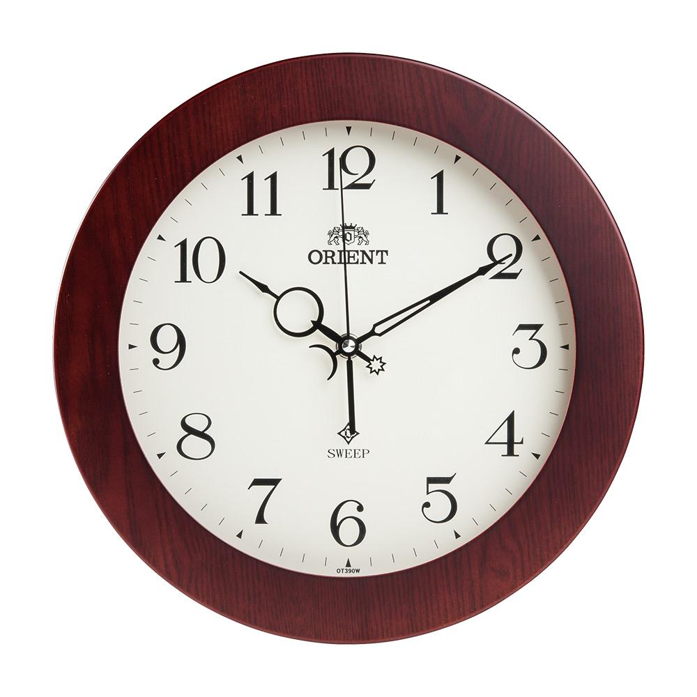 오리엔트 OT390W 무소음 앤틱클래식 인테리어벽시계, 혼합 색상