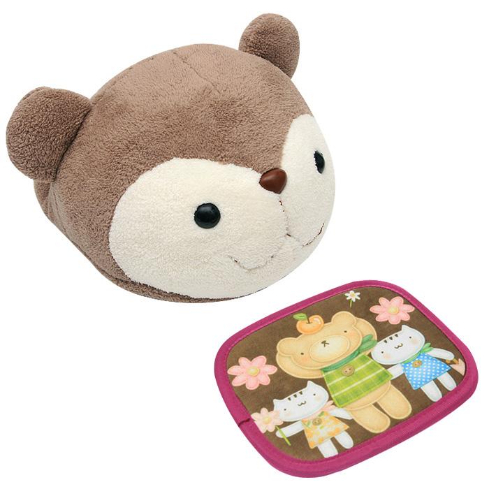 네이쳐리빙 다람쥐 인형 + 온열매트, 단일 상품, 혼합 색상