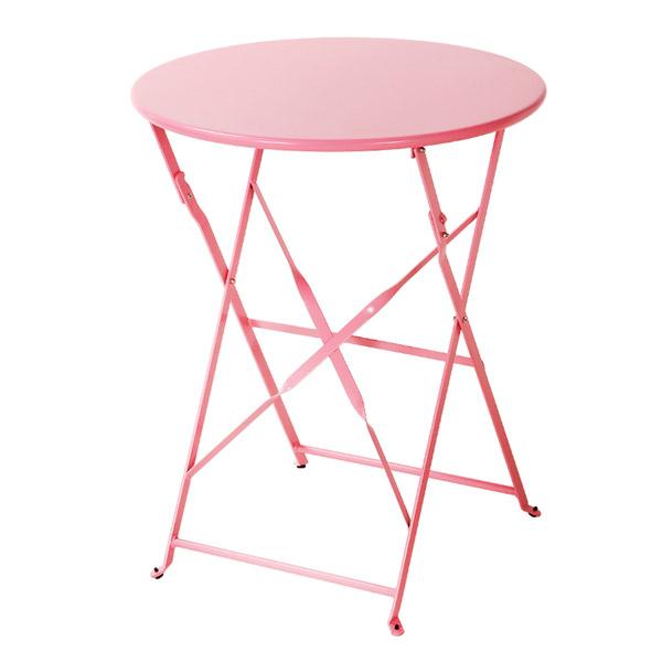 마켓비 VALLEN 접이식 빈티지 테이블 2201, 핑크, 핑크