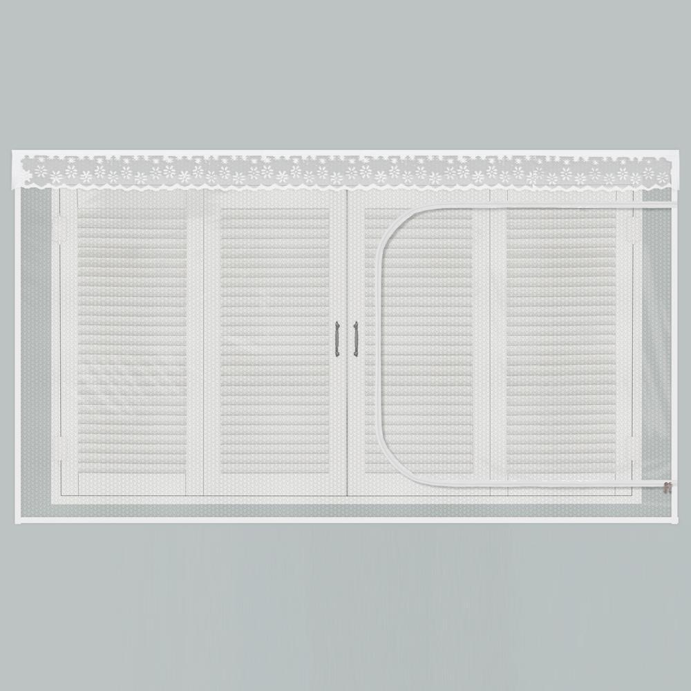 다샵 창문형 지퍼식 EVA 방풍 바람막이 에어캡, 투명