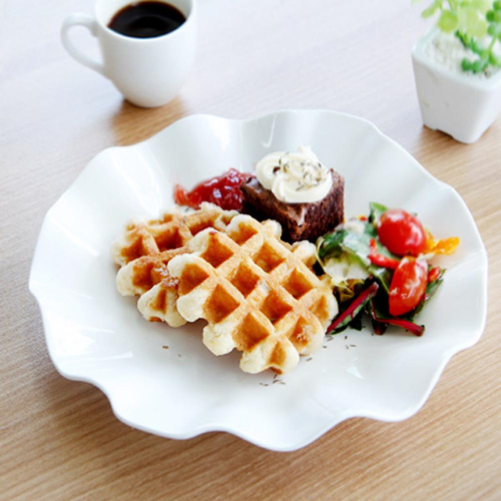 에라토 강화 국화 접시, 화이트