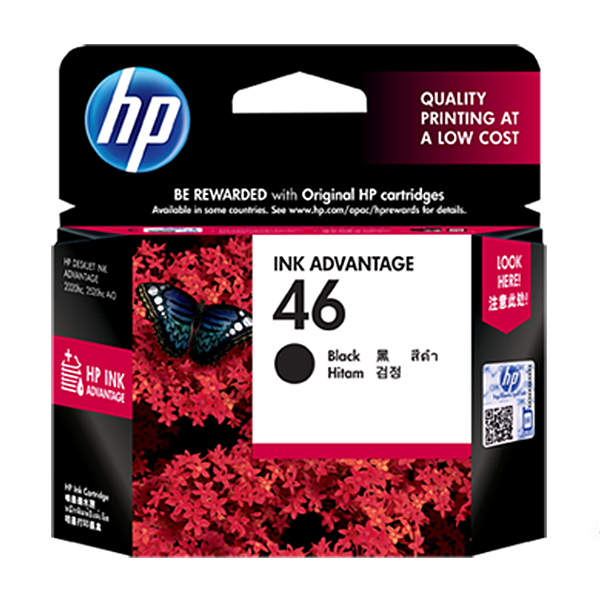 HP NO.46 정품잉크 CZ637AA, Black, 1개