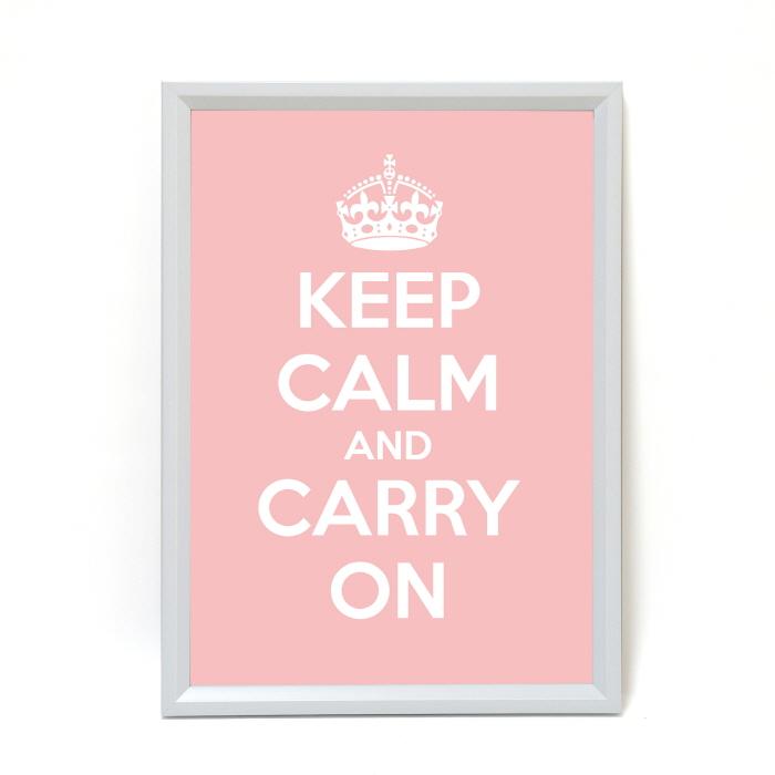 [천삼백케이] [킵캄앤캐리온] SOHO화이트 KEEP CALM 포스터 - 10Colors, 핑크