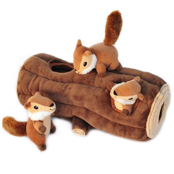지피포우즈 숨은 통나무 다람쥐찾기 장난감, 1개, 1
