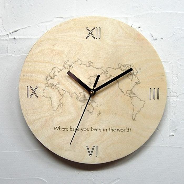 디자인웁스 자작나무 무소음벽시계, MJ02