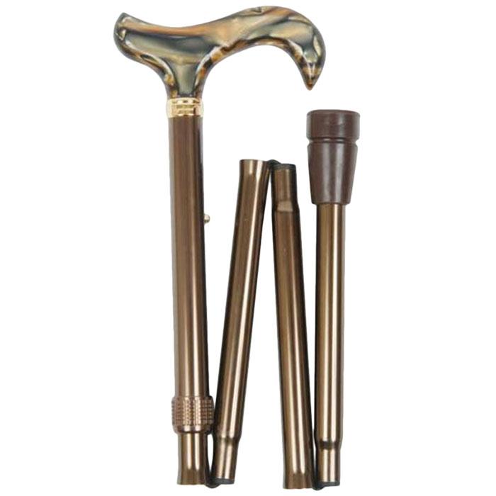 [Classic Cane]브라운마블그립 접이식지팡이, 1개