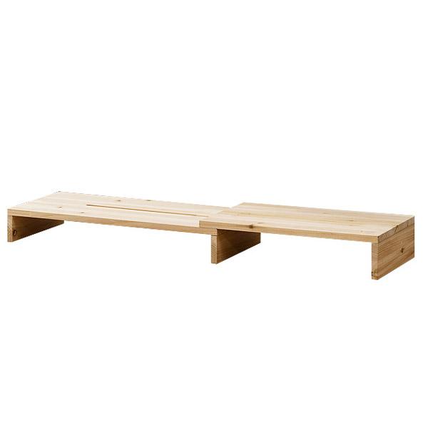 포메리트 삼나무 슬라이딩 모니터받침대, 원목