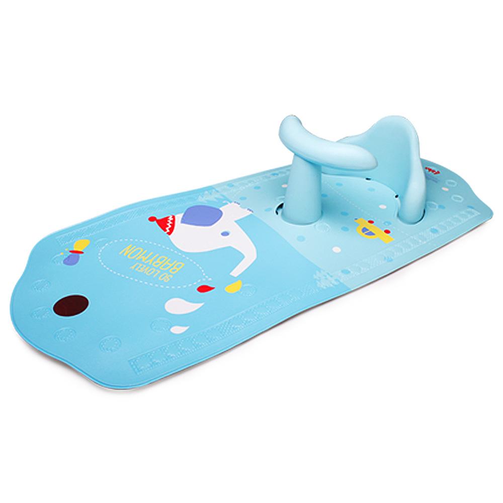 라호키즈 베이비몬 논슬립 목욕 의자 & 매트, 블루