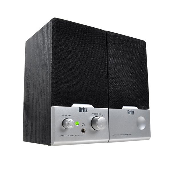 브리츠 2채널스피커 BR-1000A Cuve Black, 블랙, BR-1000A Cuve Black 2