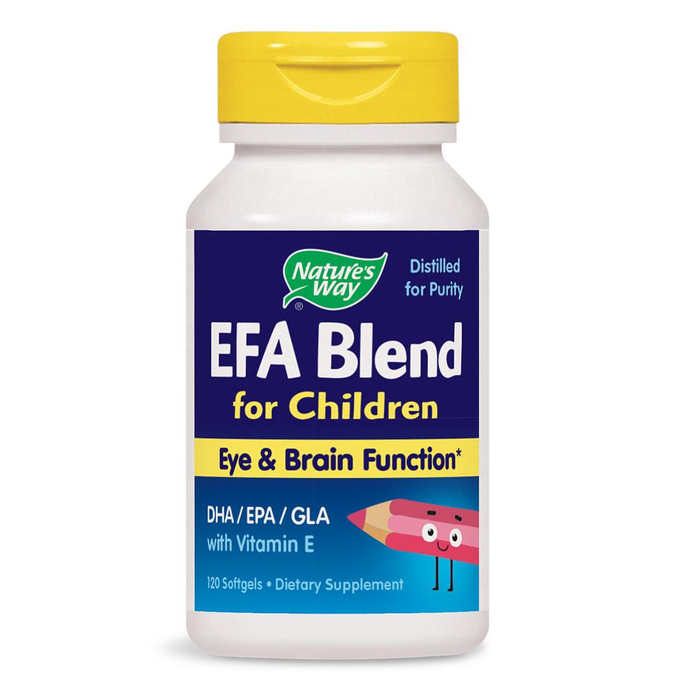 네이쳐스웨이 EFA 블랜드 어린이용 눈& 두뇌 기능 소프트젤, 120개입, 1개