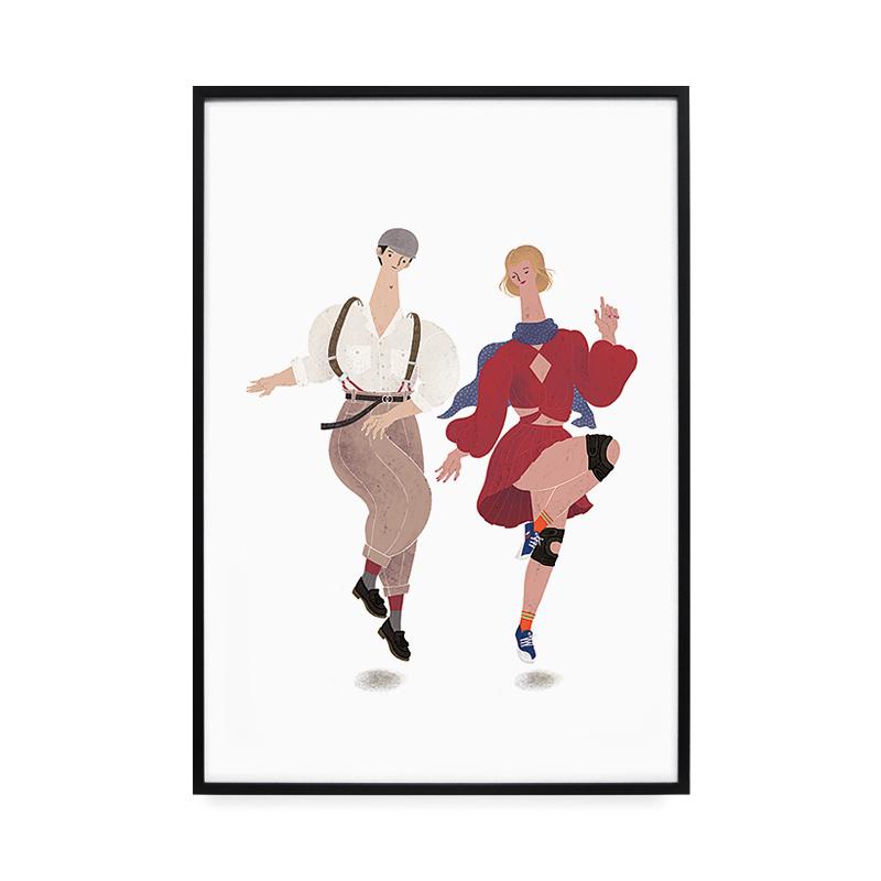 일러스트액자 Dance Dance, 알류미늄(블랙)
