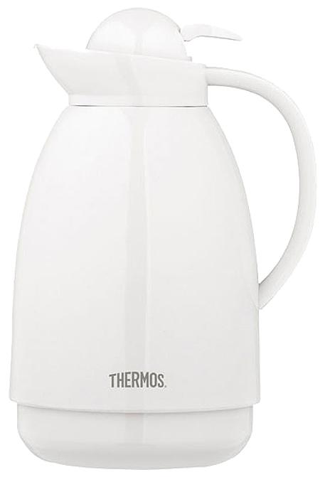 Thermos 배큠 카라페 보온보냉주전자1L, 1L, White