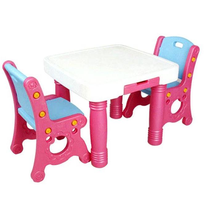 아하토이 유아책상 STEP1 A타입, 핑크플라워