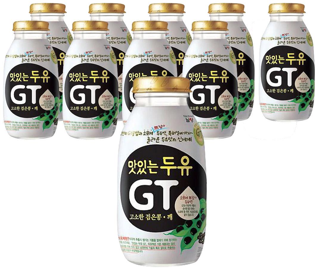 남양 맛있는 두유 GT 검은콩 깨 200mlX10병, 200ml, 10개