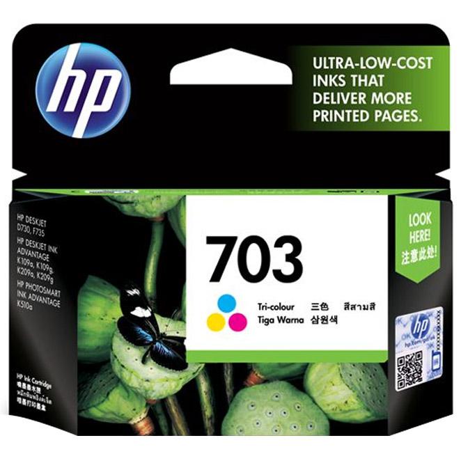 HP NO.703 정품잉크, 삼원색, 1개