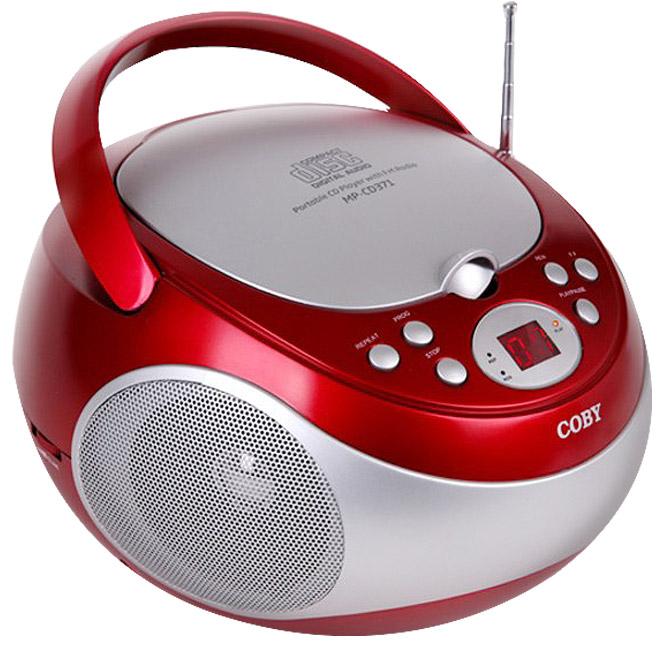 코비 포터블 CD 플레이어, MP-CD371, 레드