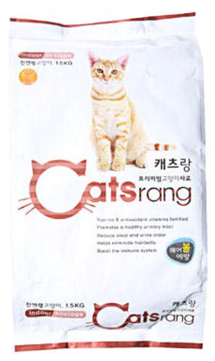 캐츠랑 전연령 인도어겸용 고양이 건식사료, 1.5kg, 1개