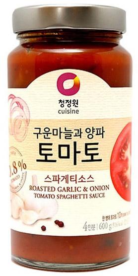 청정원 구운마늘과 양파 토마토 스파게티소스, 600g, 1개