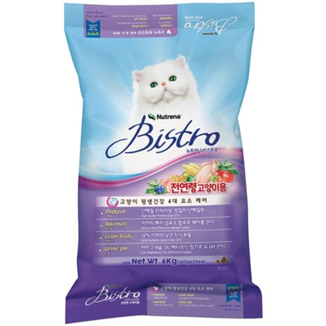 비스트로 전연령 고양이 사료, 6kg, 1개