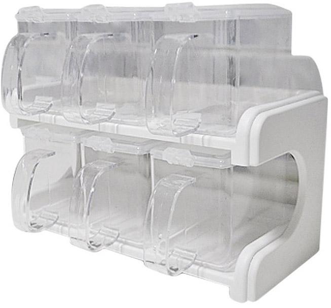 쉐프존 2단 양념통 세트 투명 대형, 1세트