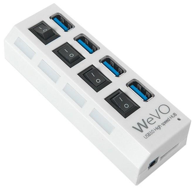 4포트 USB3.0허브 UH304, 화이트