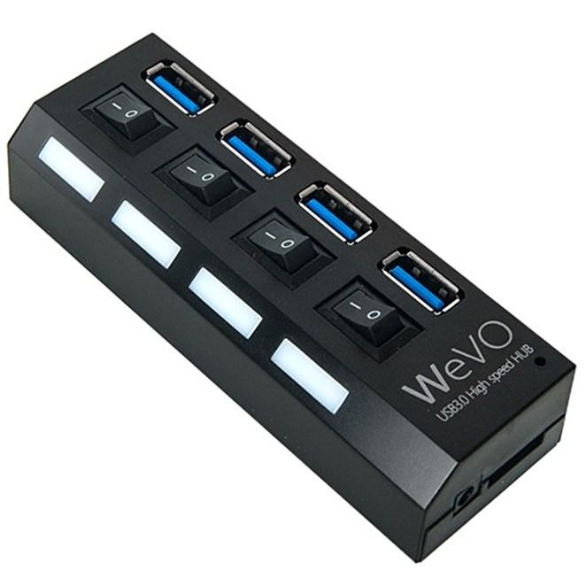 4포트 USB3.0허브 UH304, 블랙