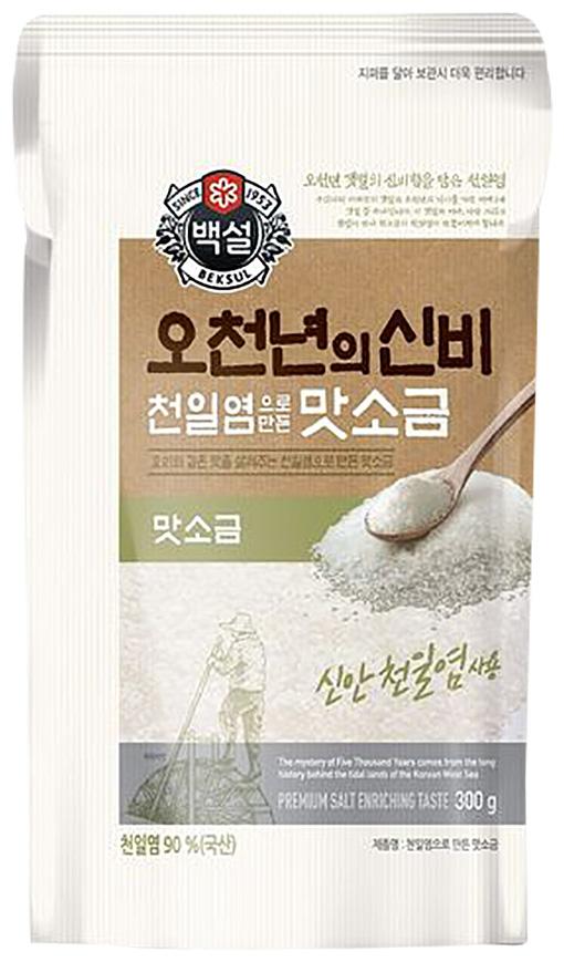 백설 천일염으로 만든 맛소금, 300g, 1개