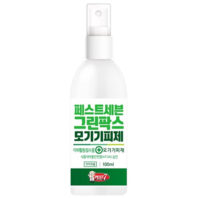 Product Image of the 페스트7 그린팍스 모기 기피제, 100ml, 1개
