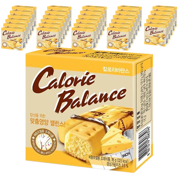 해태제과 칼로리발란스 치즈 다이어트 식품, 76g, 30개