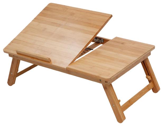 비스비바 대나무 각도조절 노트북 테이블, 단일 색상