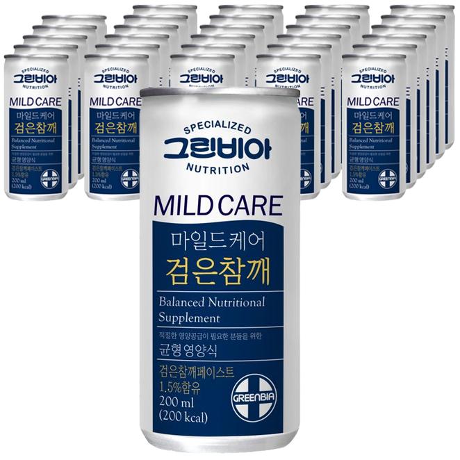 정식품 그린비아 마일드케어 검은참깨맛 환자영양식, 200ml, 30개