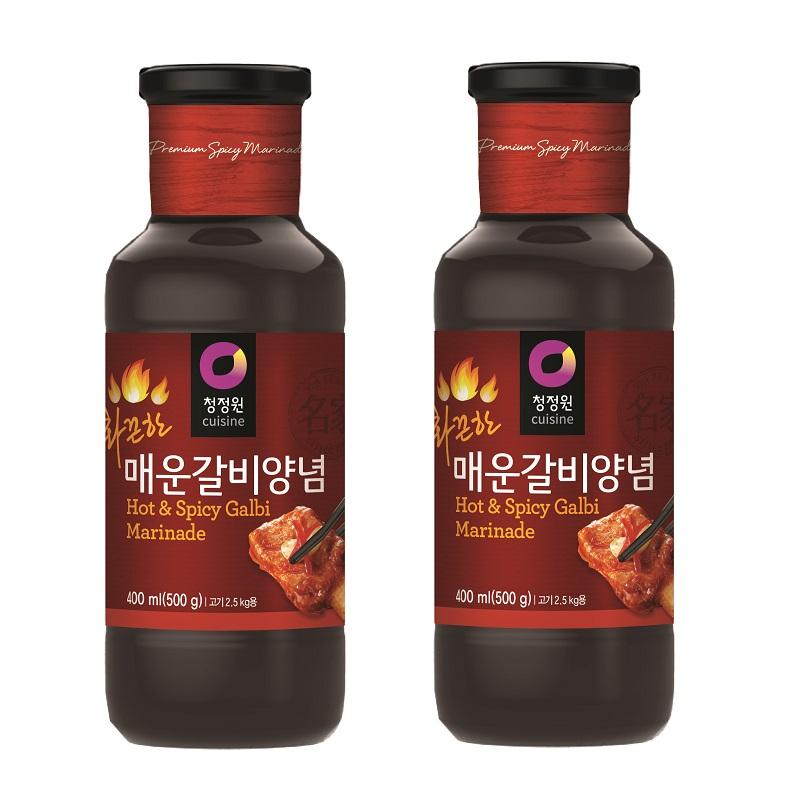 청정원 매운갈비양념 화끈한 맛, 500g, 2개
